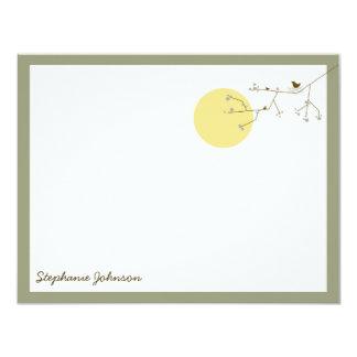 Nesting Bird Family *04 Baby Shower Thank You Card 11 Cm X 14 Cm Invitation Card