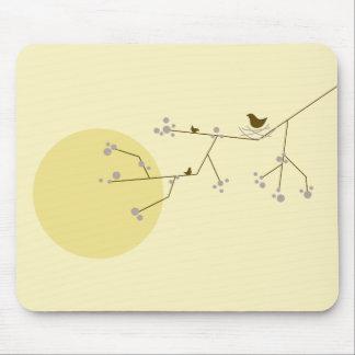 Nesting Bird + Family 04 Mousepad