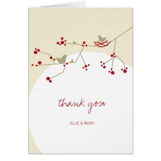 Nesting Bird + Family Baby Shower Thank You Card