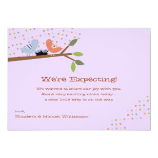 Nesting Birds - Expecting Baby Announcement