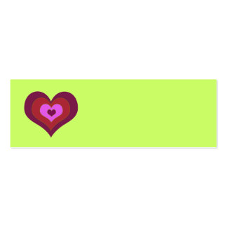 Nesting Hearts Placecards Business Card Template