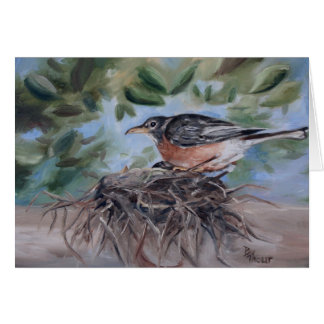 Nesting Robin Blank Card