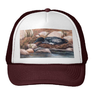 Nesting Time Loon Hat