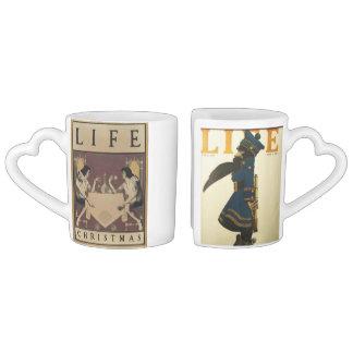 Nesting Vintage Magazine Covers Coffee Mug Set