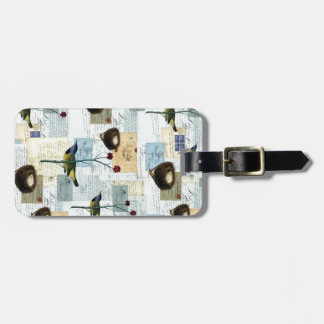 Nests and small birds bag tag