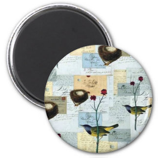 Nests and small birds magnet