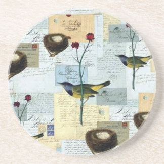 Nests and small birds - Posavasos Coaster