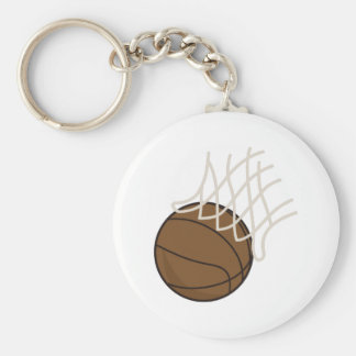 Net and Basketball Key Ring