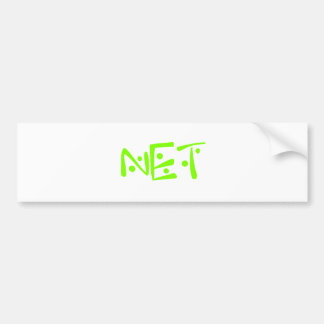 net car bumper sticker