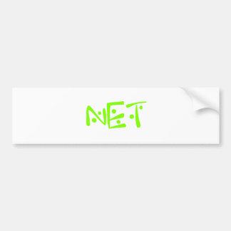 net bumper sticker