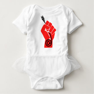 Net Neutrality Fist Baby Bodysuit