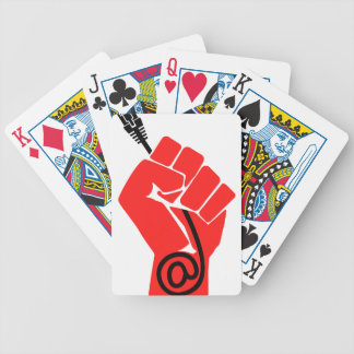 Net Neutrality Fist Bicycle Playing Cards