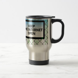 Net Neutrality | Keep the Internet Open Travel Mug
