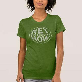 Net Neutrality Now - White Graphic T-Shirt