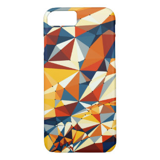 Net of multicolored triangles iPhone 7 Case