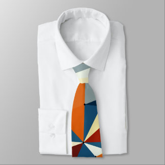 Net of multicolored triangles tie