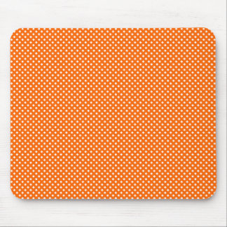 Net Pattern Orange with White Mouse Pad