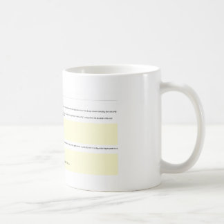 .NET Server Error Coffee Mug