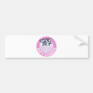 net-shark-pink bumper sticker