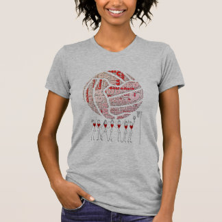 Netball and Positions Ball Design T-Shirt