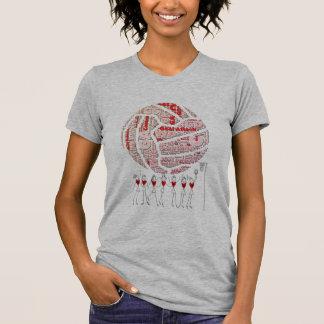 Netball and Positions Ball Design T-Shirt