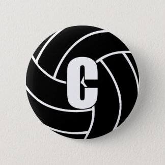 Netball Center C 6 Cm Round Badge