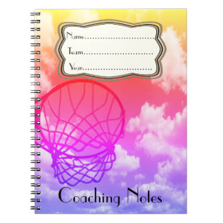 Netball Coaching Notes Theme Personalised Notebook