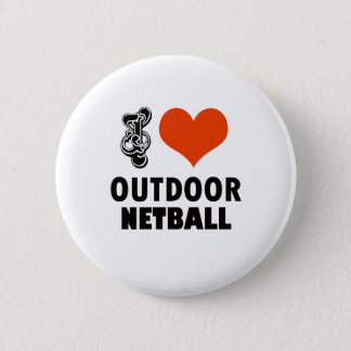 Netball design 6 cm round badge