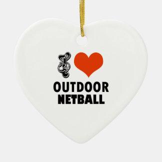 Netball design ceramic ornament