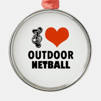 Netball design metal ornament