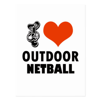 Netball design postcard