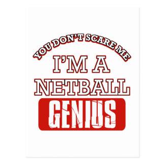 netball genius postcard
