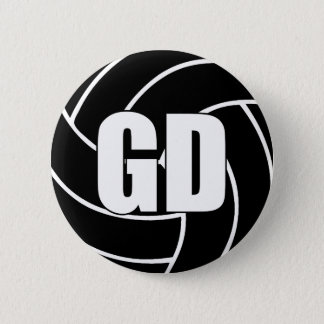 Netball Goal Defence GD 6 Cm Round Badge