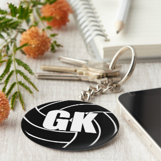 Netball Goal Keeper GK Key Ring