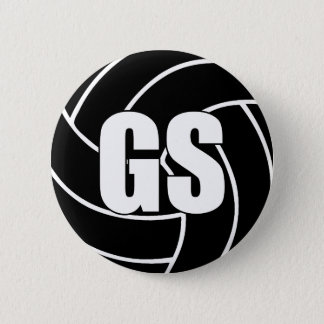 Netball Goal Shooter GS 6 Cm Round Badge