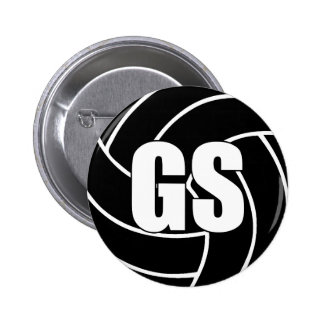 Netball Goal Shooter GS 6 Cm Round Badge