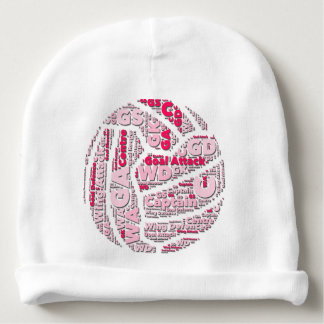 Netball Player Positions Ball Design Baby Beanie