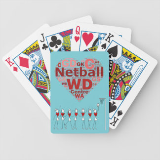 Netball Player Positions Typography Heart Design Bicycle Playing Cards