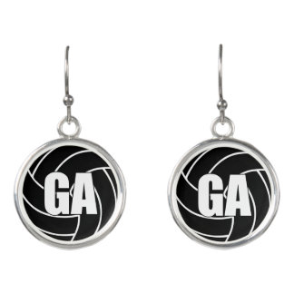 Netball Players Position, Goal Attack GA Earrings