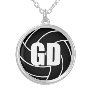 Netball Players Position, Goal Defense GD Silver Plated Necklace
