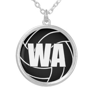 Netball Players Position, Wing Attack WA Silver Plated Necklace