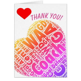 Netball Positions Heart Coach Thank You Card