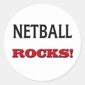 Netball Rocks Round Sticker
