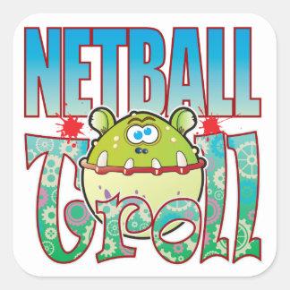 Netball Troll Square Sticker