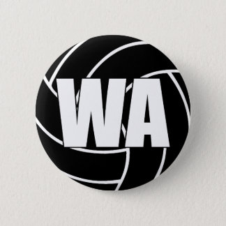 Netball Wing Attack WA 6 Cm Round Badge