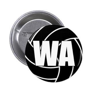 Netball Wing Attack WA 6 Cm Round Badge