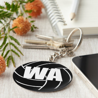 Netball Wing Attack WA Key Ring