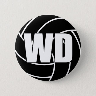 Netball Wing Defence WD 6 Cm Round Badge
