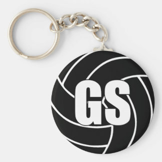 Netball Wing Defence WD Key Ring Basic Round Button Key Ring