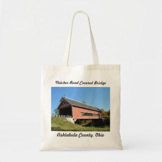 Netcher Rd Covered Bridge Ashtabula County Ohio Budget Tote Bag